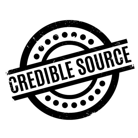 Credible Source rubber stamp. Grunge design with dust scratches. Effects can be easily removed for a clean, crisp look. Color is easily changed.
