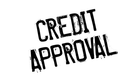 approbation: Credit Approval rubber stamp. Grunge design with dust scratches. Effects can be easily removed for a clean, crisp look. Color is easily changed.
