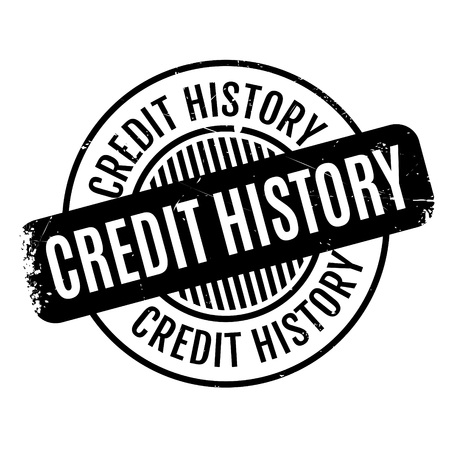 bygone: Credit History rubber stamp. Grunge design with dust scratches. Effects can be easily removed for a clean, crisp look. Color is easily changed.