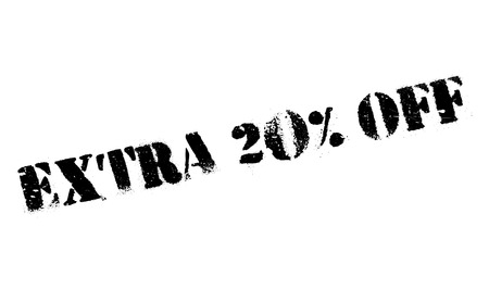 Extra 20% Off rubber stamp. Grunge design with dust scratches. Effects can be easily removed for a clean, crisp look. Color is easily changed.