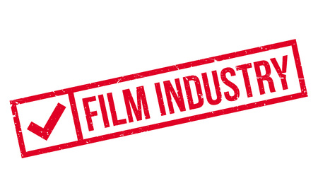 Film Industry rubber stamp. Grunge design with dust scratches. Effects can be easily removed for a clean, crisp look. Color is easily changed.