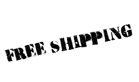 shipper: Free Shipping rubber stamp. Grunge design with dust scratches. Effects can be easily removed for a clean, crisp look. Color is easily changed. Illustration