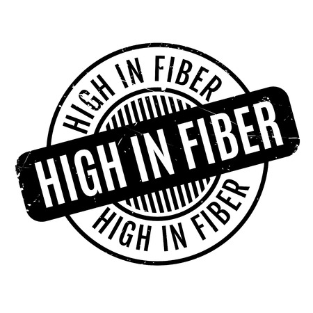 dietary fiber: High In Fiber rubber stamp. Grunge design with dust scratches. Effects can be easily removed for a clean, crisp look. Color is easily changed. Illustration