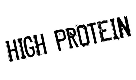transcription: High Protein rubber stamp. Grunge design with dust scratches. Effects can be easily removed for a clean, crisp look. Color is easily changed.