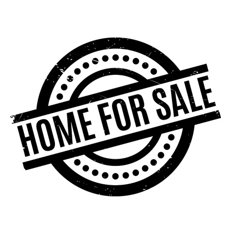 Home For Sale rubber stamp. Grunge design with dust scratches. Effects can be easily removed for a clean, crisp look. Color is easily changed. Illustration