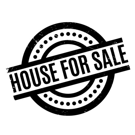 dumping: House For Sale rubber stamp. Grunge design with dust scratches. Effects can be easily removed for a clean, crisp look. Color is easily changed.