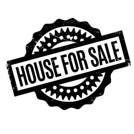 abode: House For Sale rubber stamp. Grunge design with dust scratches. Effects can be easily removed for a clean, crisp look. Color is easily changed.