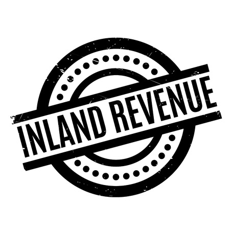 Inland Revenue rubber stamp. Grunge design with dust scratches. Effects can be easily removed for a clean, crisp look. Color is easily changed. Illustration
