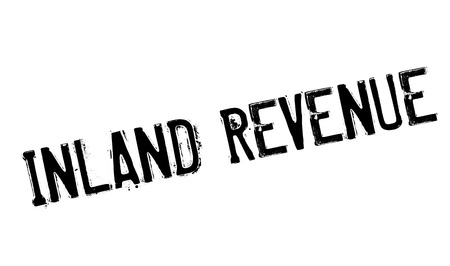 dividend: Inland Revenue rubber stamp. Grunge design with dust scratches. Effects can be easily removed for a clean, crisp look. Color is easily changed. Illustration
