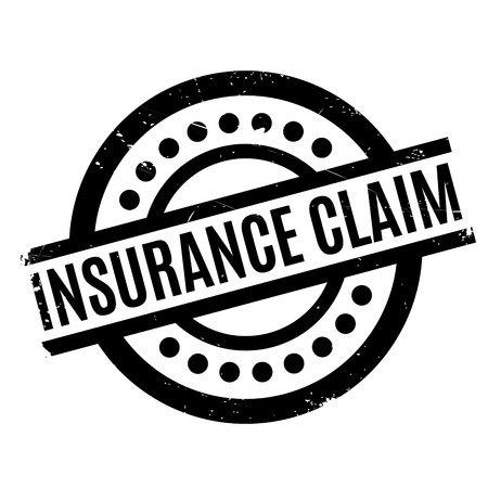 insure: Insurance Claim rubber stamp. Grunge design with dust scratches. Effects can be easily removed for a clean, crisp look. Color is easily changed.