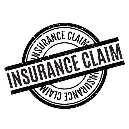 insurance claim: Insurance Claim rubber stamp. Grunge design with dust scratches. Effects can be easily removed for a clean, crisp look. Color is easily changed.
