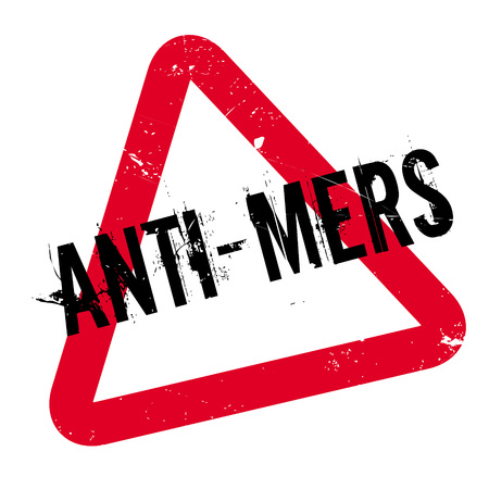 Anti-Mers rubber stamp. Grunge design with dust scratches. Effects can be easily removed for a clean, crisp look. Color is easily changed.