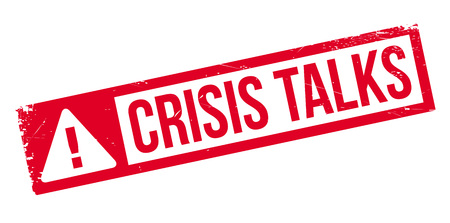 briefing: Crisis Talks rubber stamp. Grunge design with dust scratches. Effects can be easily removed for a clean, crisp look. Color is easily changed.