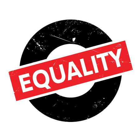 impartiality: Equality rubber stamp. Grunge design with dust scratches. Effects can be easily removed for a clean, crisp look. Color is easily changed.