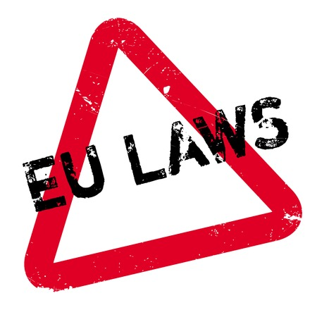 EU Laws rubber stamp. Grunge design with dust scratches. Effects can be easily removed for a clean, crisp look. Color is easily changed.