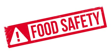 edibles: Food Safety rubber stamp. Grunge design with dust scratches. Effects can be easily removed for a clean, crisp look. Color is easily changed.