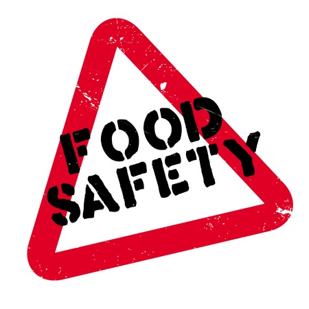 Food Safety rubber stamp. Grunge design with dust scratches. Effects can be easily removed for a clean, crisp look. Color is easily changed.
