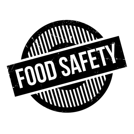 surety: Food Safety rubber stamp. Grunge design with dust scratches. Effects can be easily removed for a clean, crisp look. Color is easily changed.