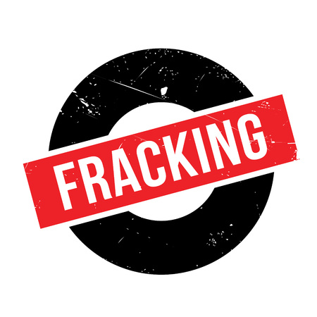 protestors: Fracking rubber stamp. Grunge design with dust scratches. Effects can be easily removed for a clean, crisp look. Color is easily changed. Illustration