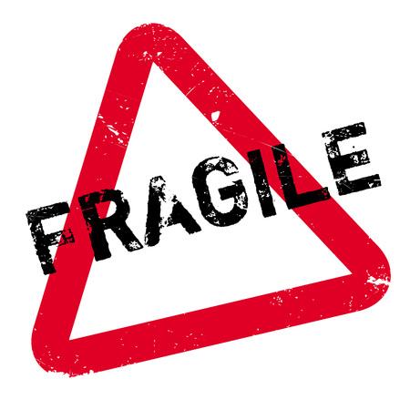 Fragile stempel. Grunge ontwerp met stof krassen. Effecten kunnen gemakkelijk worden verwijderd voor een schone, frisse look. Kleur is gemakkelijk veranderd.