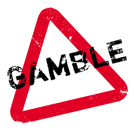 Gamble rubber stamp. Grunge design with dust scratches. Effects can be easily removed for a clean, crisp look. Color is easily changed.