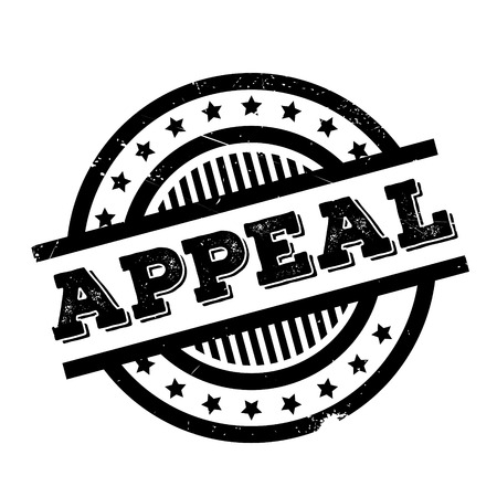 plea: Appeal rubber stamp. Grunge design with dust scratches. Effects can be easily removed for a clean, crisp look. Color is easily changed. Illustration