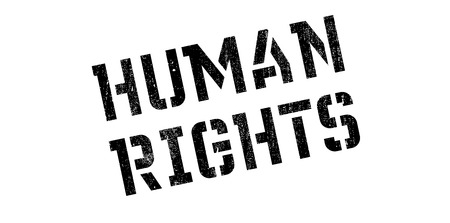 convention: Human Rights rubber stamp. Grunge design with dust scratches. Effects can be easily removed for a clean, crisp look. Color is easily changed.