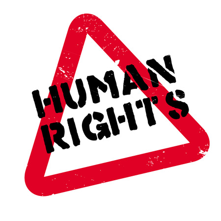 treaty: Human Rights rubber stamp. Grunge design with dust scratches. Effects can be easily removed for a clean, crisp look. Color is easily changed.