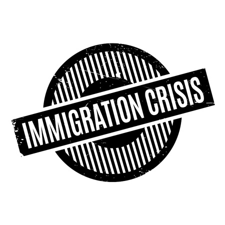 resettlement: Immigration Crisis rubber stamp. Grunge design with dust scratches. Effects can be easily removed for a clean, crisp look. Color is easily changed.