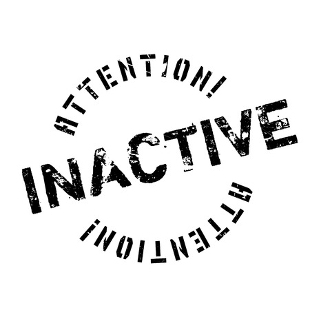 inactive: Inactive rubber stamp. Grunge design with dust scratches. Effects can be easily removed for a clean, crisp look. Color is easily changed.