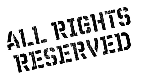 offish: All Rights Reserved rubber stamp. Grunge design with dust scratches. Effects can be easily removed for a clean, crisp look. Color is easily changed.