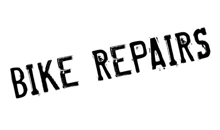 darn: Bike Repairs rubber stamp. Grunge design with dust scratches. Effects can be easily removed for a clean, crisp look. Color is easily changed. Illustration