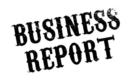Business Report rubber stamp. Grunge design with dust scratches. Effects can be easily removed for a clean, crisp look. Color is easily changed.