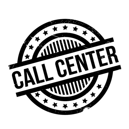 intermediate: Call Center rubber stamp. Grunge design with dust scratches. Effects can be easily removed for a clean, crisp look. Color is easily changed.