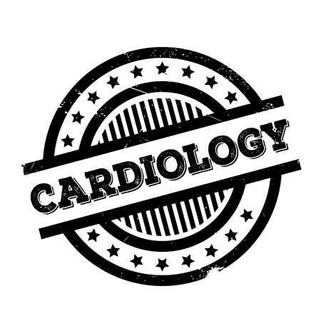 Cardiology rubber stamp. Grunge design with dust scratches. Effects can be easily removed for a clean, crisp look. Color is easily changed.