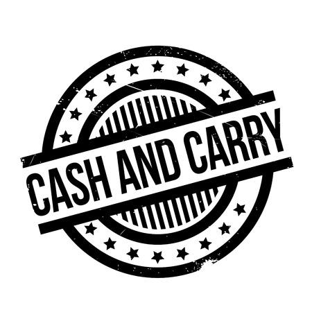 remuneraciÓn: Efectivo y sello de goma Carry. Diseño de Grunge con los rasguños polvo. Los efectos se pueden quitar fácilmente para una apariencia limpia y nítida. En color se cambia fácilmente. Vectores