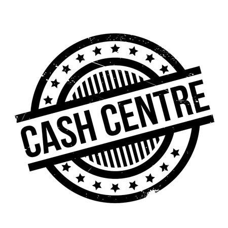 intermediate: Cash Centre rubber stamp. Grunge design with dust scratches. Effects can be easily removed for a clean, crisp look. Color is easily changed.