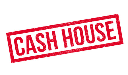 scratch pad: Cash House rubber stamp. Grunge design with dust scratches. Effects can be easily removed for a clean, crisp look. Color is easily changed.