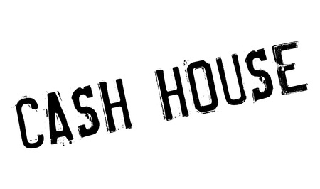domicile: Cash House rubber stamp. Grunge design with dust scratches. Effects can be easily removed for a clean, crisp look. Color is easily changed.