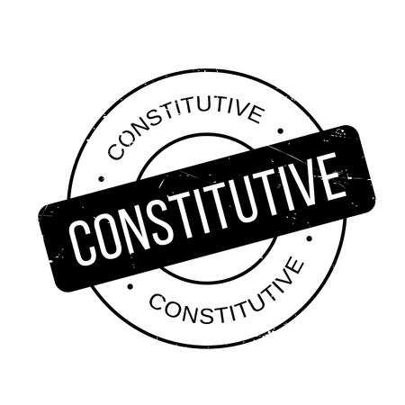 constitutive: Constitutive rubber stamp. Grunge design with dust scratches. Effects can be easily removed for a clean, crisp look. Color is easily changed.