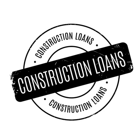 systematization: Construction Loans rubber stamp. Grunge design with dust scratches. Effects can be easily removed for a clean, crisp look. Color is easily changed.