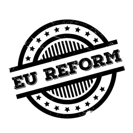 Eu Reform rubber stamp. Grunge design with dust scratches. Effects can be easily removed for a clean, crisp look. Color is easily changed. Illustration