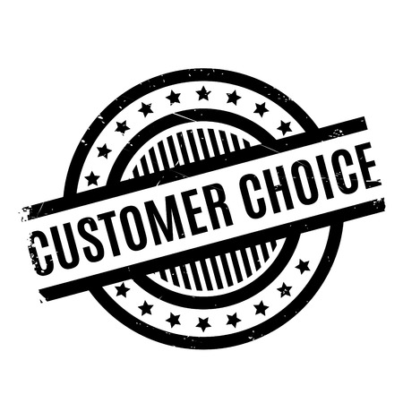Customer Choice rubber stamp. Grunge design with dust scratches. Effects can be easily removed for a clean, crisp look. Color is easily changed. Illustration