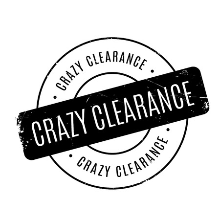 premonition: Crazy Clearance rubber stamp. Grunge design with dust scratches. Effects can be easily removed for a clean, crisp look. Color is easily changed.