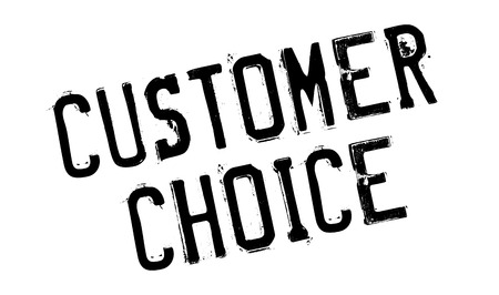 stakeholder: Customer Choice rubber stamp. Grunge design with dust scratches. Effects can be easily removed for a clean, crisp look. Color is easily changed. Illustration