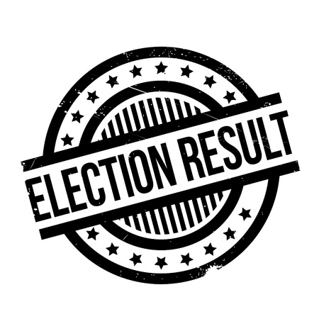 Election Result rubber stamp. Grunge design with dust scratches. Effects can be easily removed for a clean, crisp look. Color is easily changed. Illustration