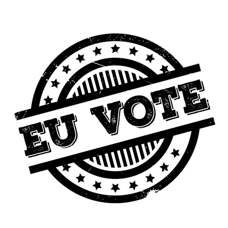 Eu Vote rubber stamp. Grunge design with dust scratches. Effects can be easily removed for a clean, crisp look. Color is easily changed.