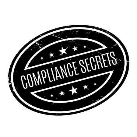 governing: Compliance Secrets rubber stamp. Grunge design with dust scratches. Effects can be easily removed for a clean, crisp look. Color is easily changed.