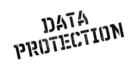data protection act: Data Protection rubber stamp. Grunge design with dust scratches. Effects can be easily removed for a clean, crisp look. Color is easily changed.