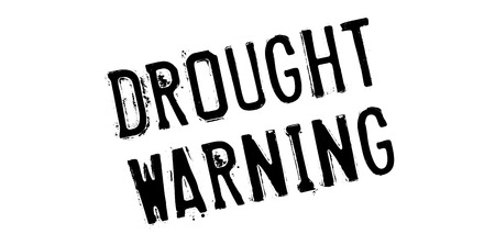 drought: Drought Warning rubber stamp. Grunge design with dust scratches. Effects can be easily removed for a clean, crisp look. Color is easily changed. Illustration